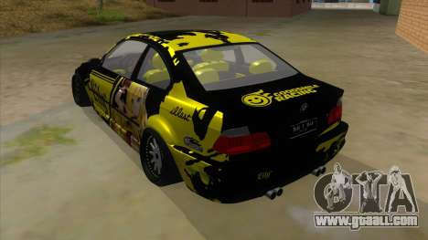 BMW M3 E46 Lily Itasha for GTA San Andreas back left view