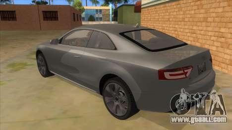 Audi S5 Sedan V8 for GTA San Andreas back left view