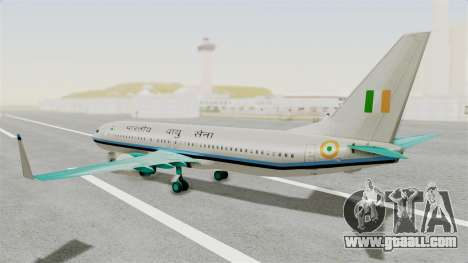 Boeing 737-800 Business Jet Indian Air Force for GTA San Andreas left view