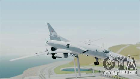 TU-22M3 for GTA San Andreas back left view