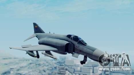 F-4E Phantom II Royal Noord-Hollandian Air Force for GTA San Andreas back left view