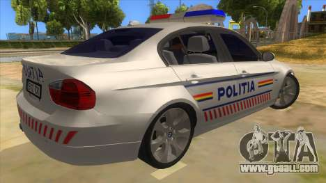 BMW 330XD Romania Police for GTA San Andreas right view