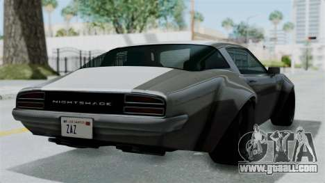 GTA 5 Nightshade for GTA San Andreas left view