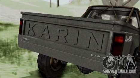 GTA 5 Karin Rebel 4x4 Worn IVF for GTA San Andreas bottom view