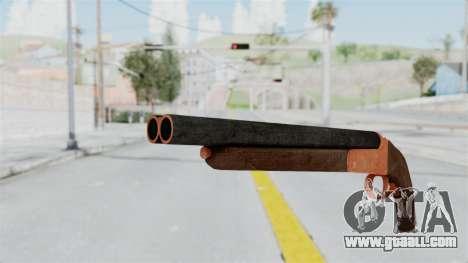 Double Barrel Shotgun Orange Tint (Lowriders CC) for GTA San Andreas second screenshot