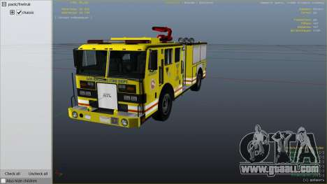 GTA 5 Los Angeles Fire Truck right side view
