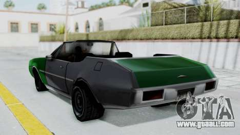 Clover Cabrio for GTA San Andreas left view
