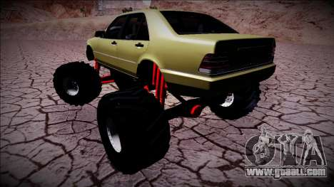 Mercedes-Benz W140 Monster Truck for GTA San Andreas right view