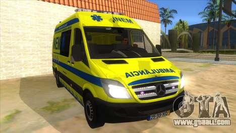 Mercedes-Benz Sprinter INEM Ambulance for GTA San Andreas back view