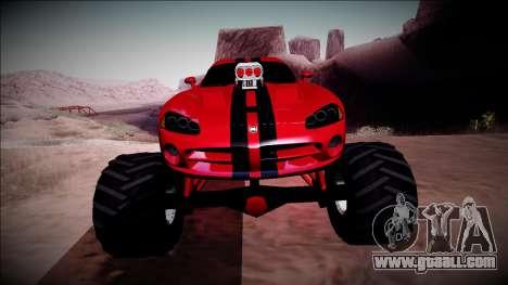 Dodge Viper SRT10 Monster Truck for GTA San Andreas side view