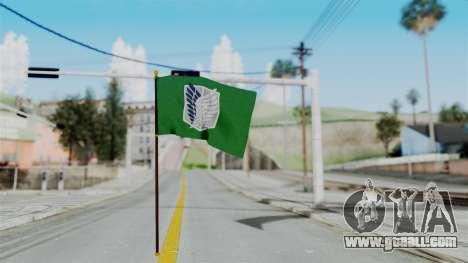 Attack On Titan Survey Crops Flag for GTA San Andreas second screenshot
