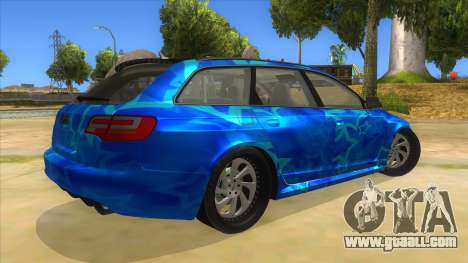 Audi RS6 Blue Star Badgged for GTA San Andreas right view