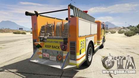 GTA 5 Los Angeles Fire Truck rear left side view