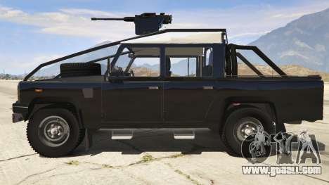 GTA 5 Land Rover 110 Pickup Armoured left side view