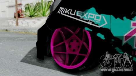 Toyota Vellfire Miku Pocky Exhaust v2 for GTA San Andreas back left view