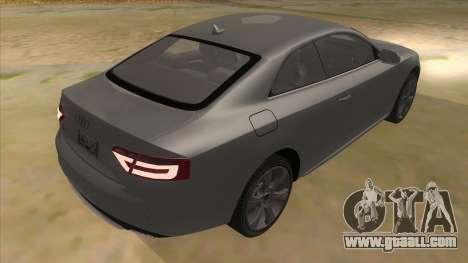 Audi S5 Sedan V8 for GTA San Andreas right view