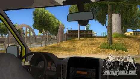 Mercedes-Benz Sprinter INEM Ambulance for GTA San Andreas inner view