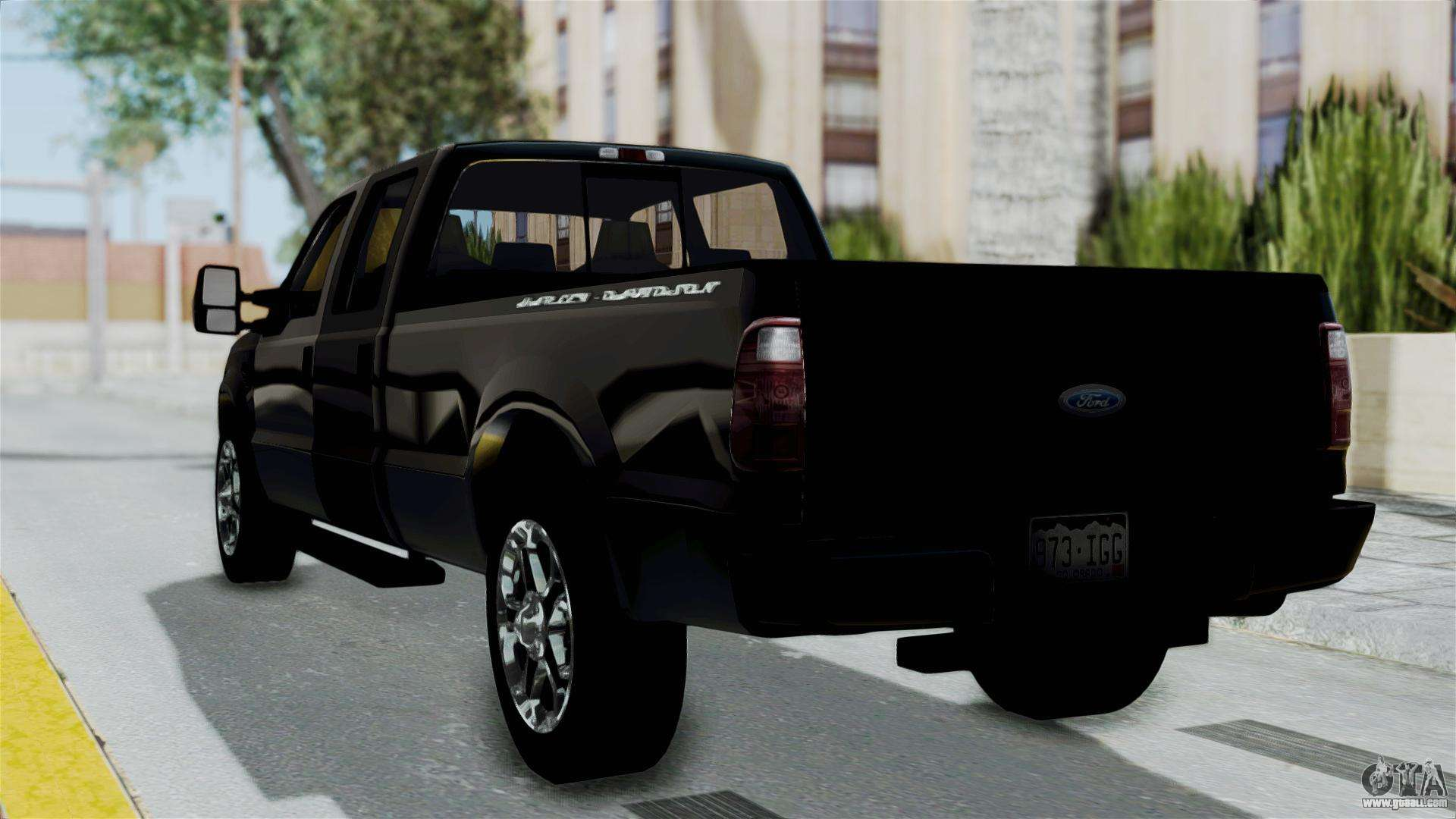 Ford f 250 harley davidson for gta san andreas left view