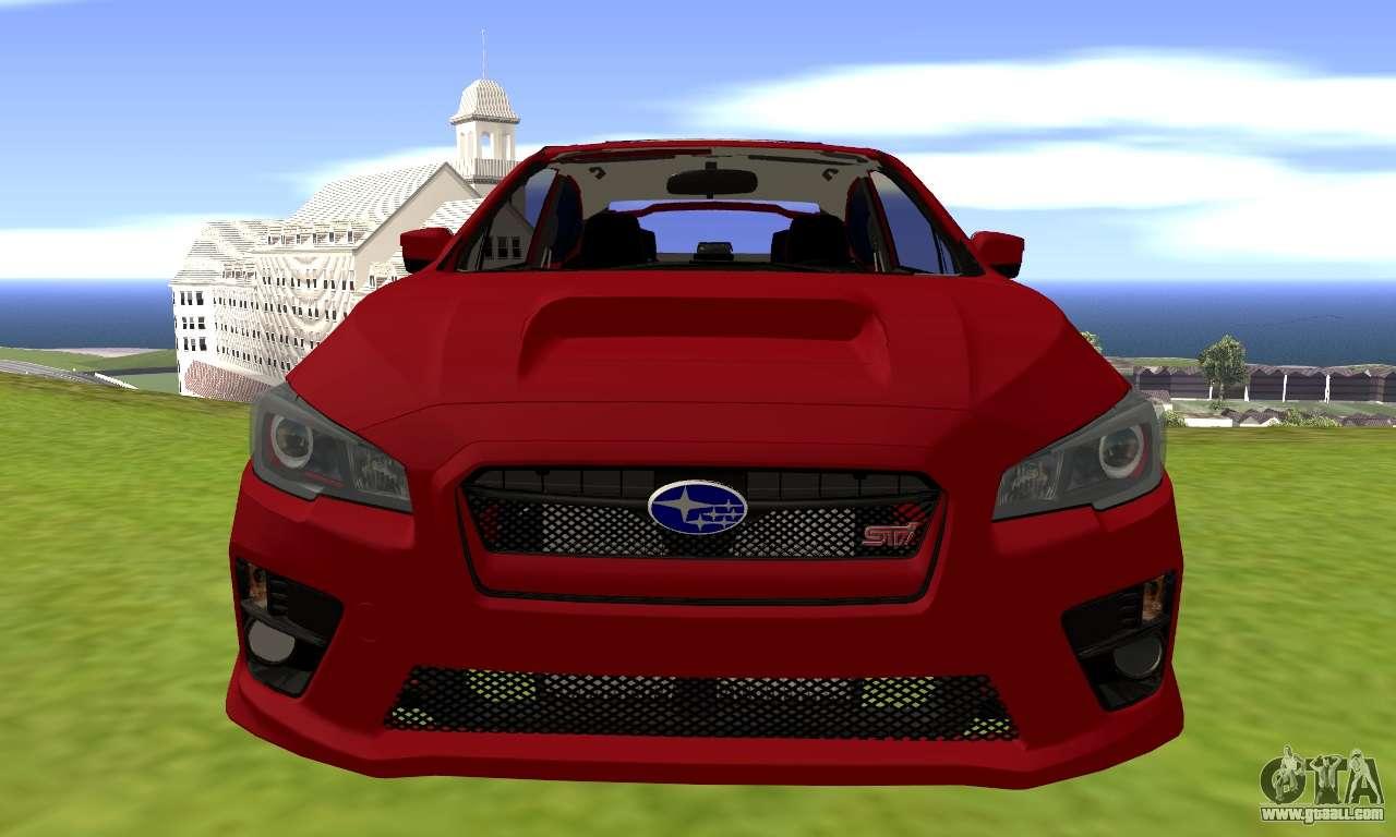 Subaru Wrx Sti 2015 For Gta San Andreas