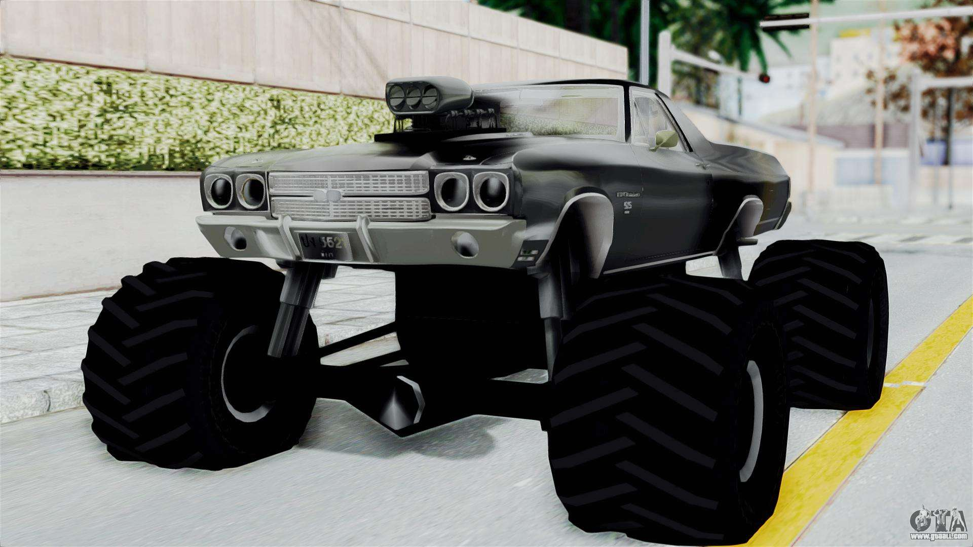 Chevrolet El Camino SS 1970 Monster Truck for GTA San Andreas