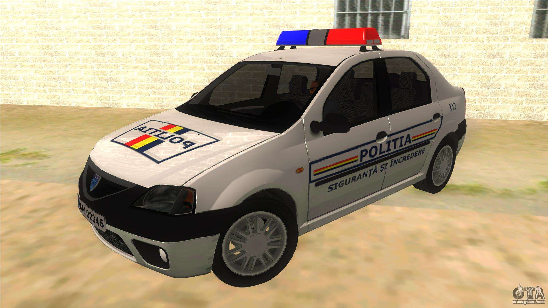 dacia logan romania police for gta san andreas. Black Bedroom Furniture Sets. Home Design Ideas