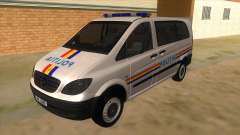 Mercedes Benz Vito Romania Police for GTA San Andreas
