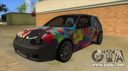 Volkswagen Golf R32 Hatsune Miku Itasha for GTA San Andreas