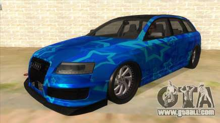 Audi RS6 Blue Star Badgged for GTA San Andreas