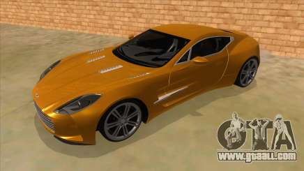 Aston Martine One-77 2010 Autovista for GTA San Andreas