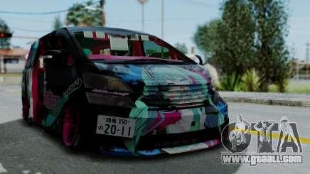Toyota Vellfire Miku Pocky Exhaust v2 for GTA San Andreas