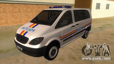 Mercedes Benz Vito Romania Police for GTA San Andreas