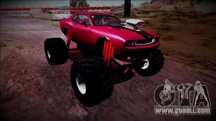2009 Dodge Challenger SRT8 Monster Truck for GTA San Andreas