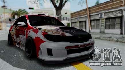 Subaru Impreza WRX STI 2010 Itasha Asuna (SAO) for GTA San Andreas