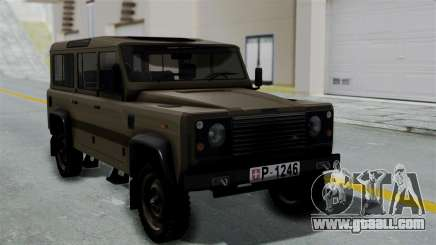 Land Rover Defender Vojno Vozilo for GTA San Andreas