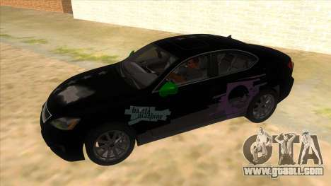 Lexus ISF for GTA San Andreas upper view