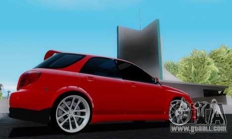 Subaru Impreza WRX STi Wagon Fox 2007 for GTA San Andreas right view