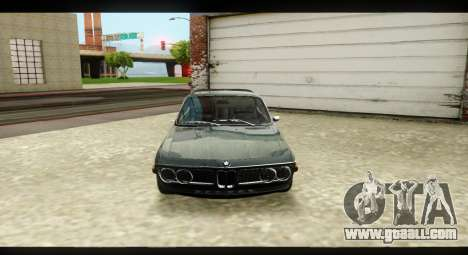 BMW 3.0 CSL for GTA San Andreas inner view