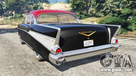 GTA 5 Chevrolet Bel Air Sport Coupe 1957 v1.5 rear left side view
