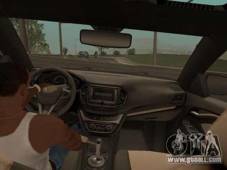 Lada Vesta for GTA San Andreas right view