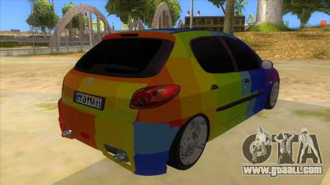 Iranian Peugeot 206 Sport for GTA San Andreas right view