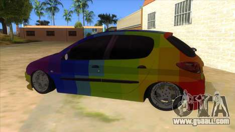 Iranian Peugeot 206 Sport for GTA San Andreas left view
