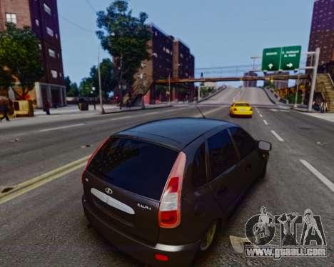 Lada Kalina for GTA 4 back view