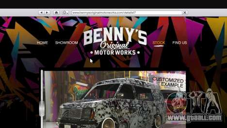 The body shop benny's in single mode for GTA 5