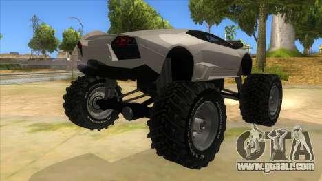Lamborghini Reventon Monster Truck for GTA San Andreas right view