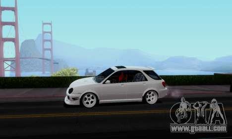 Subaru Impreza WRX STi Wagon Stens for GTA San Andreas back left view
