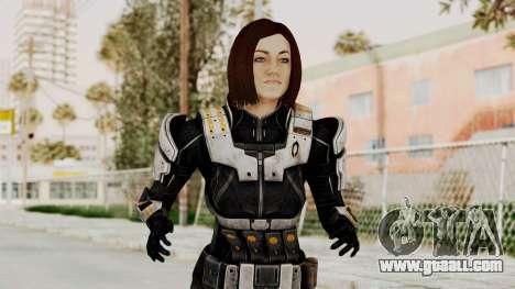Mass Effect 3 Miranda Short Hair Ajax Armor for GTA San Andreas