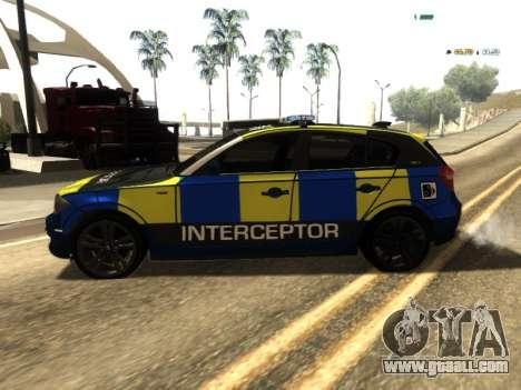BMW 120i SE UK Police ANPR Interceptor for GTA San Andreas left view