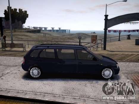 VAZ Kalina 1117 7-door for GTA 4 back view