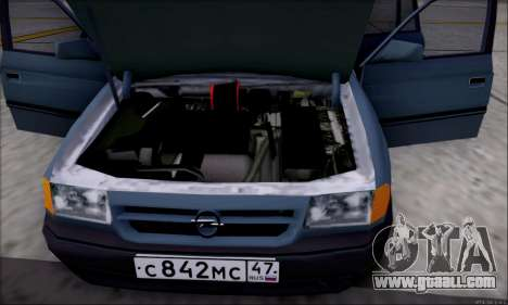 Opel Astra for GTA San Andreas interior
