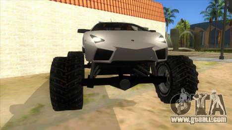 Lamborghini Reventon Monster Truck for GTA San Andreas back view